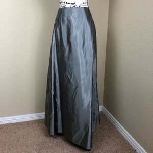 Crimson Silver Evening Maxi Skirt 12
